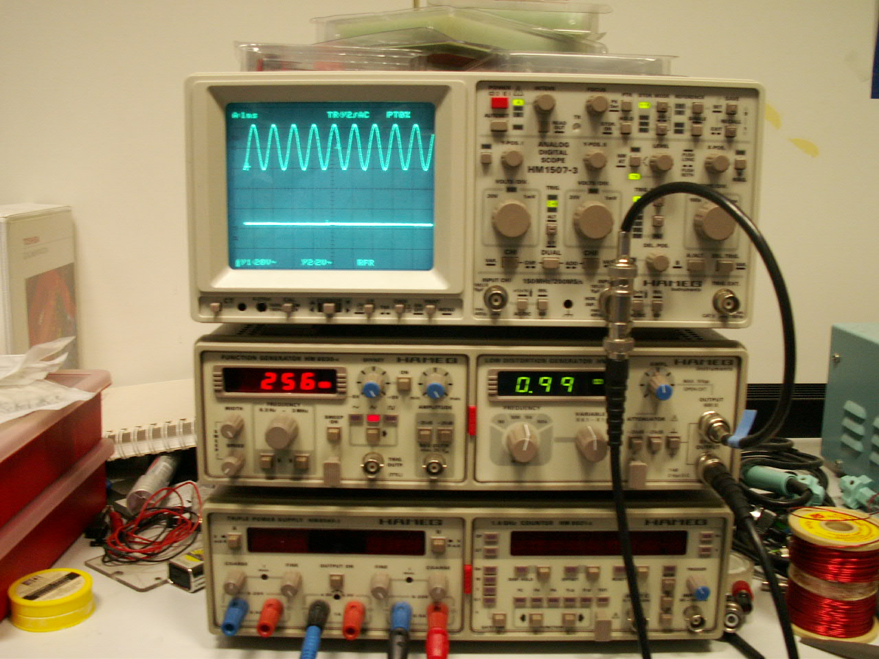 Computer Based Measuring Equipment : Electronic lab